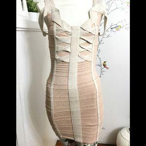 Fora Pink Stretch Sweater Body-con Dress